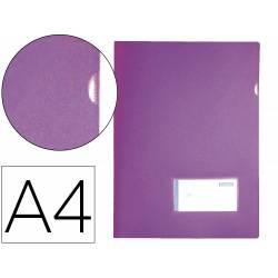 Carpeta dossier broche Liderpapel DIN A4 polipropileno 180 micras 20 hojas color morado