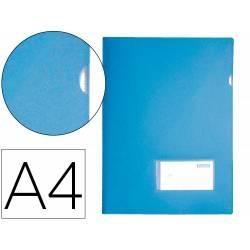 Carpeta dossier broche Liderpapel DIN A4 polipropileno 180 micras 20 hojas color azul