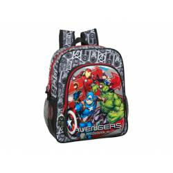 CARTERA ESCOLAR SAFTA AVENGERS HEROES MOCHILA JUNIOR ADAPTABLE A CARRO 320X120X380 MM