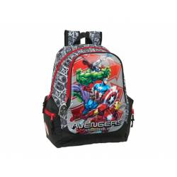 CARTERA ESCOLAR SAFTA AVENGERS HEROES MOCHILA ADAPTABLE A CARRO 320X170X430 MM