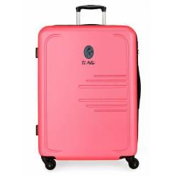 Maleta grande EL POTRO BATRÁN rígida 79cm rosa