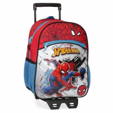 Mochila Preescolar Spiderman Red con Carro (40422T1)