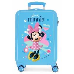 Maleta de cabina rígida Minnie Love azul 55x38x20cm