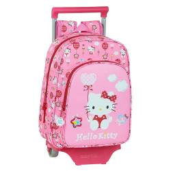 MOCHILA ESCOLAR SAFTA CON CARRO HELLO KITTY BALLON 260X110X340 MM