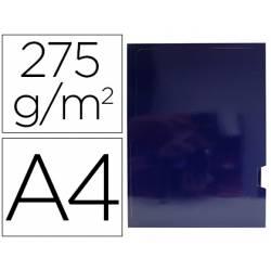Subcarpeta Gio DIN A4 275 gr Plastificada con 2 solapas color Azul