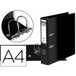 Archivador de palanca Elba Carton compacto DIN A4 Lomo de 80 mm color Negro