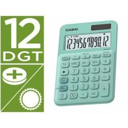 Calculadora Sobremesa Casio MS-20UC-BU 12 Digitos color Verde