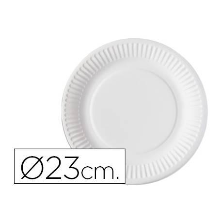 Plato de carton Nupik 23cm color blanco