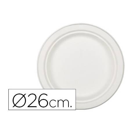 Plato de fibra natural Nupik 26cm color blanco