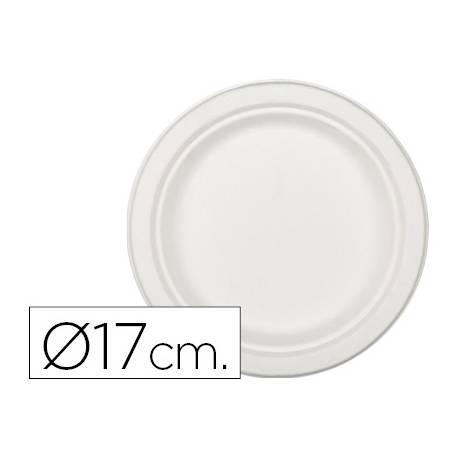 Plato de fibra natural Nupik 17cm color blanco