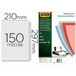 Tapa de Encuadernacion Plastico Fellowes DIN A4 Color Transparente 150 micras pack 100 uds