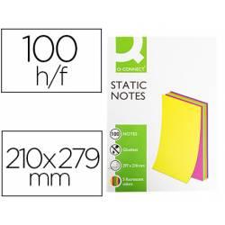 Bloc de notas magneticas quita y pon Q-Connect 210x297 mm 5 colores fluorescentes