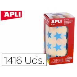 Gomets Apli estrella color azul metalizado 19,5mm