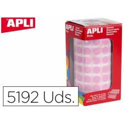 Gomets Apli circulares color rosa 10,5mm