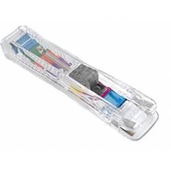 Dispensador supaclip Rapesco capacidad 40 hojas con clips multicolores