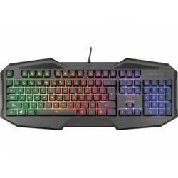 Teclado gaming con cable 1,4 m Marca Trust Gxt 830-RW Avonn Iluminación Rainbow