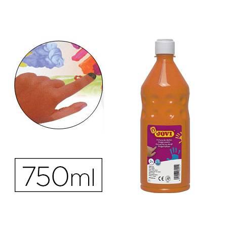 Pintura de dedos Jovi Botella 750 ml Color Naranja