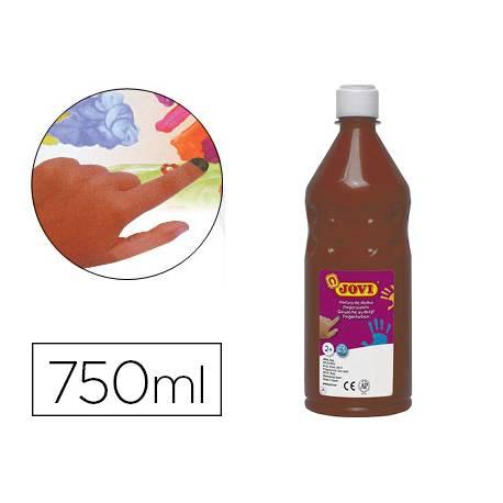 Pintura de dedos Jovi Botella 750 ml Color Marron