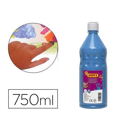 Pintura de dedos Jovi Botella 750 ml Color Azul