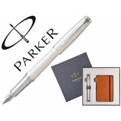 Pluma Parker urban premium perla con block de notas de regalo