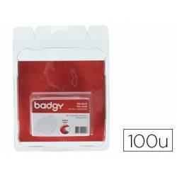 Tarjeta Badgy PVC 53,98x85,60 mm Grosor 0,50 mm Pack 100 unidades