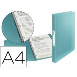 Carpeta plastico 4 anillas Esselte A4 color azul Colour Ice