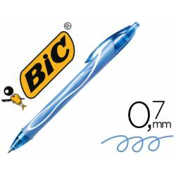 Boligrafo Bic Gelocity Quick Dry Retractil tinta gel color Turquesa 0,7 mm