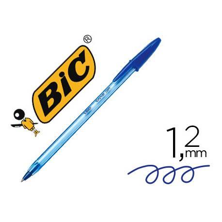 Boligrafo Bic Cristal soft azul punta de 1,2