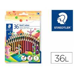 Lapices de colores Staedtler Wopex ecológicos caja de 36 colores largos