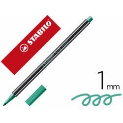 Rotulador Stabilo Acuarelable Pen 68 Color Verde Metalico