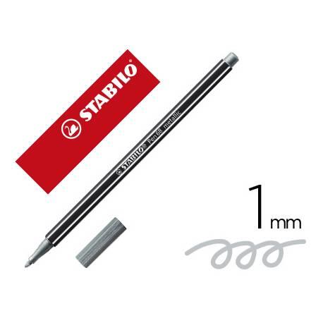 Rotulador Stabilo Acuarelable Pen 68 Color Plata Metalico