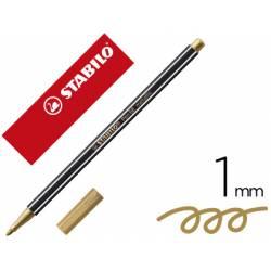 Rotulador Stabilo Acuarelable Pen 68 Color Oro Metalico