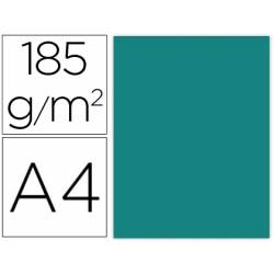 Cartulina Gvarro color verde menta A4 185 g/m2 Paquete de 50