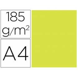 Cartulina Gvarro color Kiwi A4 185 g/m2 Paquete de 50