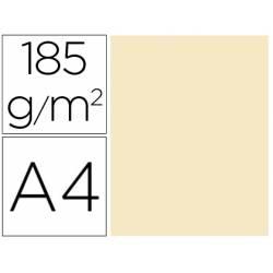 Cartulina Gvarro color carne A4 185 g/m2 Paquete de 50
