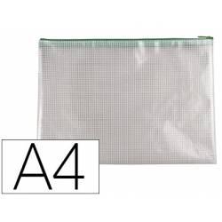 Bolsa multiusos Q-Connect A4 de plastico impermeable y ultrarresistente Verde