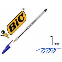 Boligrafo Bic Cristal Stylus con puntero tactil de 1mm Azul
