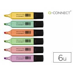 Rotulador Q-Connect Pastel Fluorescente Estuche 6 unidades colores surtidos