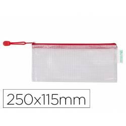 Bolsa multiusos 250x115 mm Tarifold plastico impermeable y ultrarresistente correa Roja