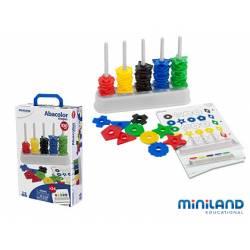 Juego didáctico de 3 a 5 años Ábaco con surtido de formas y colores Miniland