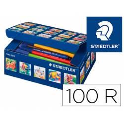 Rotuladores Staedtler Noris Club Punta Fina 1mm de Colores Surtidos Caja de 100 unidades