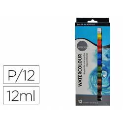 Acuarela Daler Rowney 12 colores surtidos en tubos 12 ml
