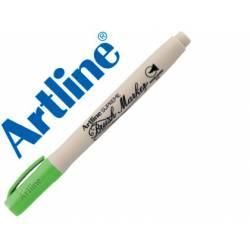 Rotulador Artline Supreme Brush Acuarelable Punta Pincel Color Verde Amarillento