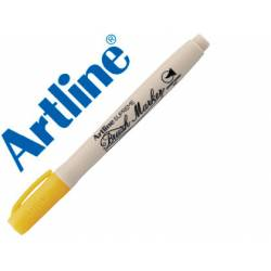 Rotulador Artline Supreme Brush Acuarelable Punta Pincel Color Amarillo