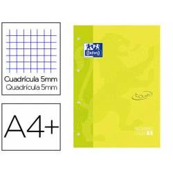 Recambio Oxford Din A4+ cuadricula 5mm color verde lima