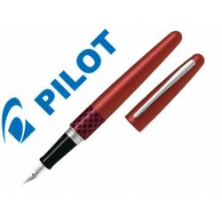 Pluma Pilot Urban MR Retro Pop Plumín Metálico con Estuche Color Rojo