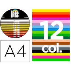 """Cartulina Guarro DIN A4 185g/m2 Contenido """"B"""" de 12 Colores Surtidos 100 hojas"""