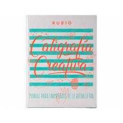 Libro Caligrafia Lettering Rubio con 150 páginas 27x21 cm Tapa dura