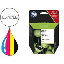 Cartucho HP N.301 Desjekt Pack de ahorro 2 negro y 1 tricolor E5Y87EE