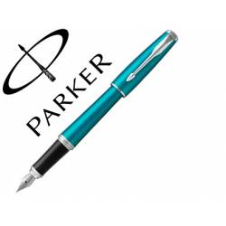 Pluma Parker Urban CT Plumin Medio Lacado Color Turquesa Adornos Cromados